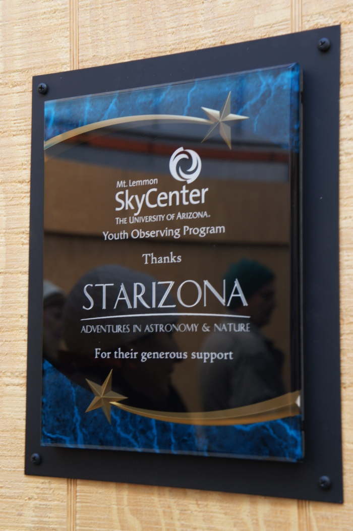 Cool perspective of the people benefiting from Starizona's generous donation of eyepieces for use on the Jamieson telescope at  the Mount Lemmon Sky Center.