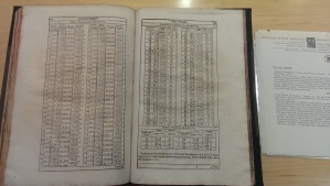 After the beautiful imprint came some dense data tables.