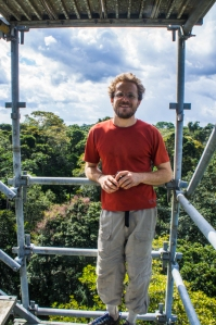 Neill at the top of the walk-up tower, looking out over the canopy of the Tapajos National Forest. I was surprised how diverse the canopy structure was.