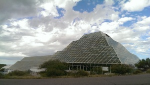 Biosphere 2's rainforest from outside