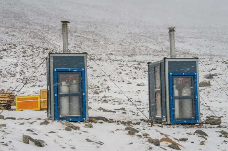 Rocket toilets! In the snow! It may not seem like a big deal for it to snow in Antarctica, but it IS a big deal when it snows in one of the driest places on Earth: the McMurdo Dry Valleys in Antarctica, which is where we were camped.