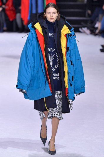 PARIS, FRANCE - MARCH 04: A model walks the runway during the Balenciaga Ready to Wear Fashion show as part of the Paris Fashion Week Womenswear Fall/Winter 2018/2019 on March 4, 2018 in Paris, France. (Photo by Victor VIRGILE/Gamma-Rapho via Getty Images)